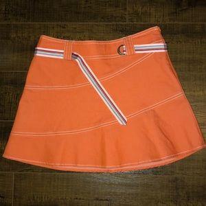 Orange bebe mini skirt